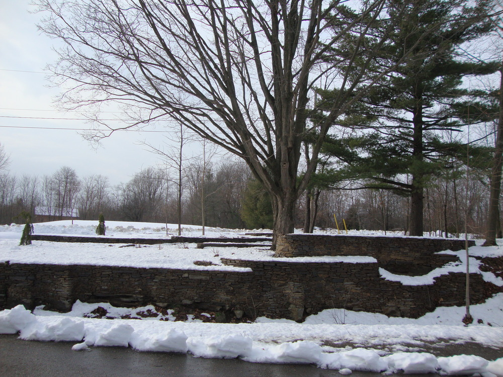 Dry Lay Stone | Snow | Brockville | Riverview Design Solutions | Landscaping