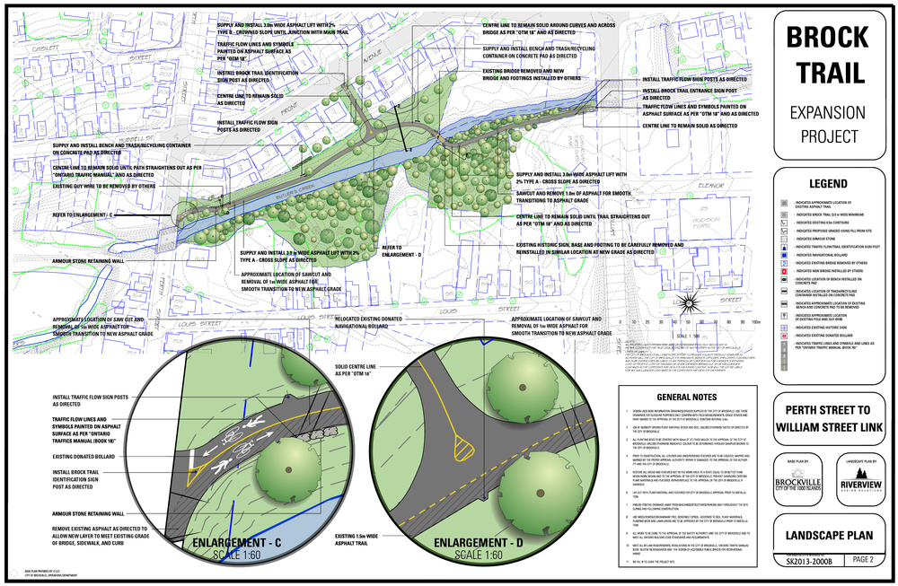 DESIGN FOR TRAIL REVITALIZATION AND EXPANSION FROM PERTH ST. TO WILLIAM ST.