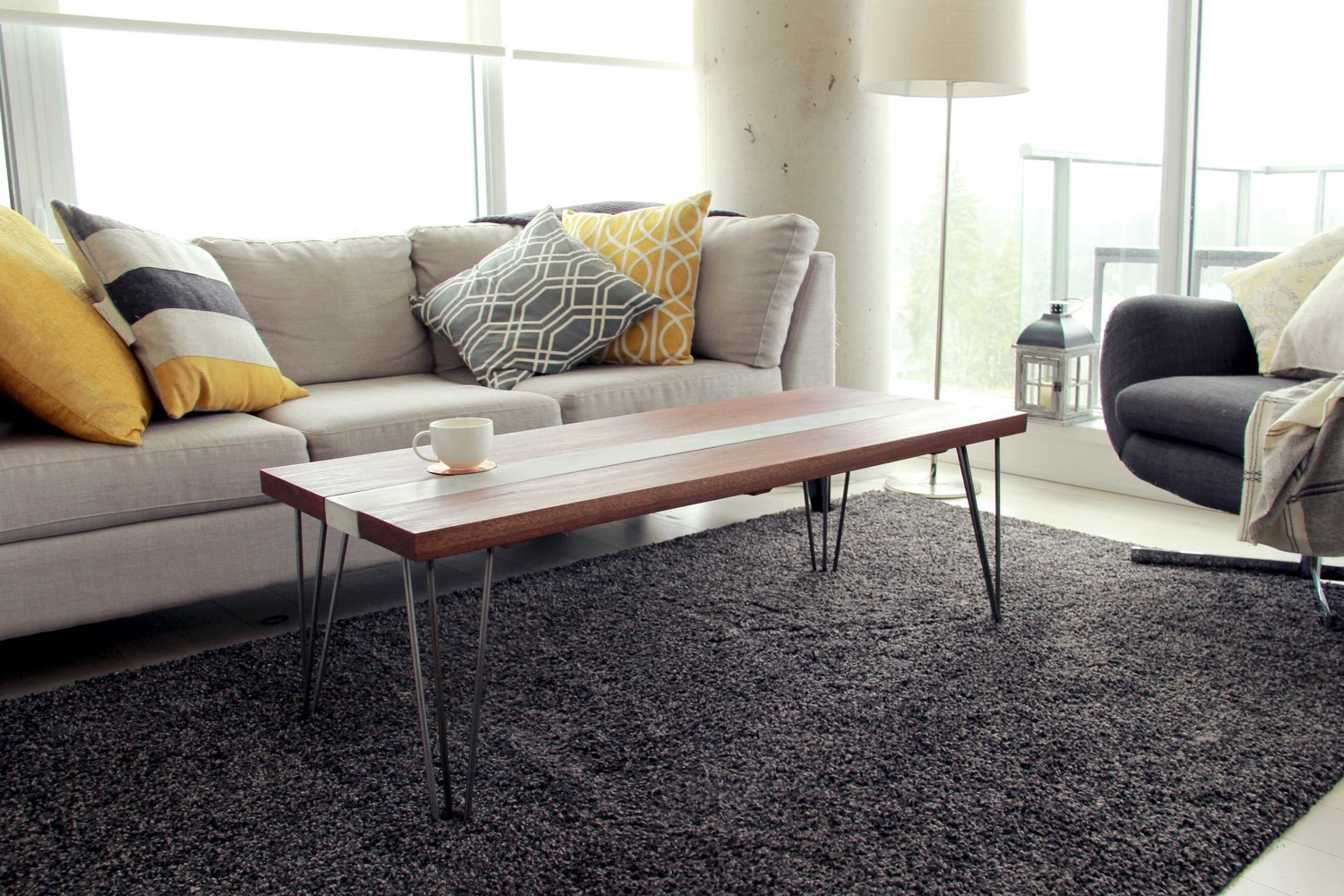 Riverview design solutions concrete walnut table industrial modern furniture loft jpg