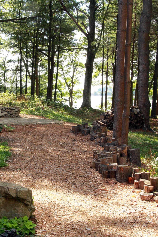 Riverview Design Solutions - Forest landscape Architecture - Log Retaining Wall - Naturalized Landscape.jpg