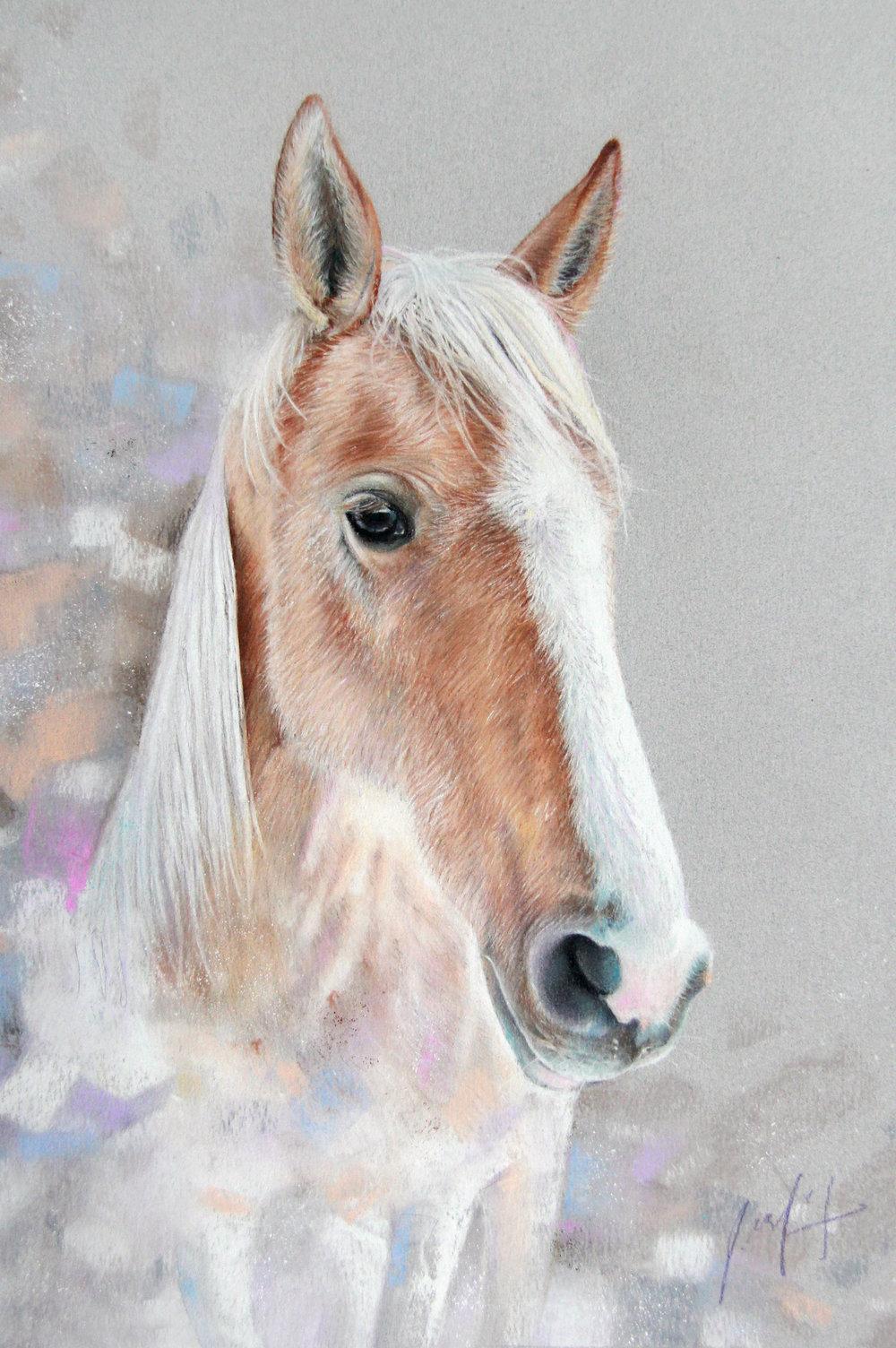 PASTEL ART HORSE SADIE