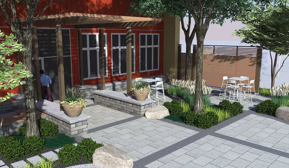 Riverview Design Solutions_Commercial Landscape_Front Entrance.jpg