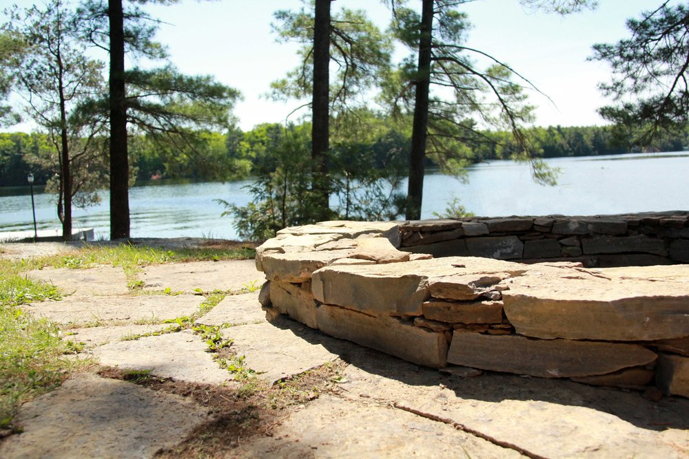 Riverview Design Solutions_Charleston Lake Ontario_Drylaid Stone Fire Pit.jpg