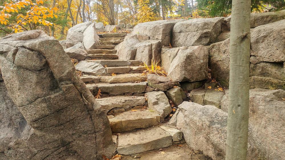 Riverview Landscape Architecture _ Drylaid Stone Steps _ Bedrock _ Brockville.jpg