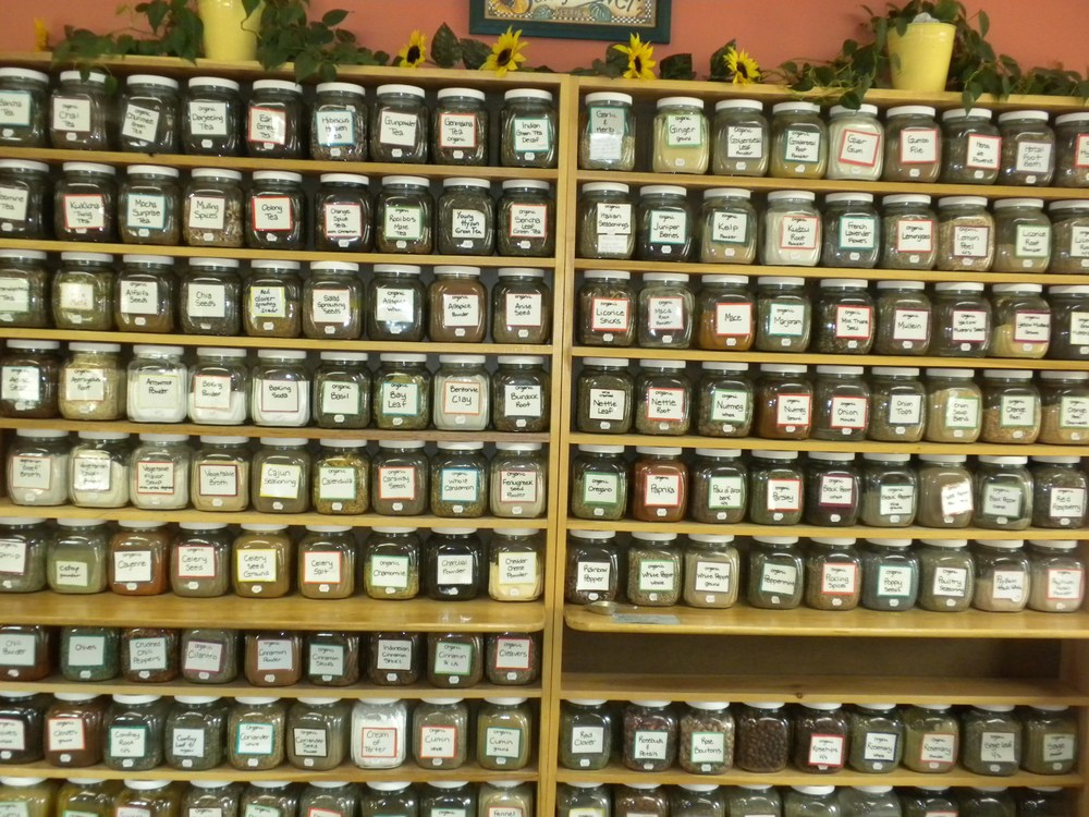 Bulk organic herbs & spices, teas, and sprouting seeds
