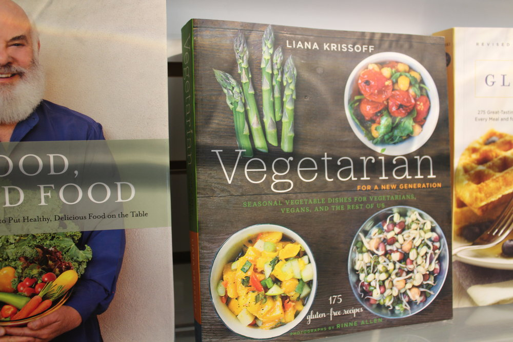 Wide Selection of Cookbooks & Health Books Upstairs