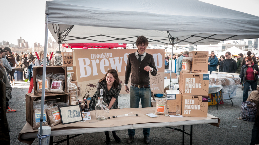 Stephen and Erica at The Brooklyn Flea