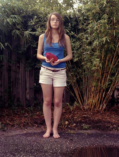 Caroline with pig (2013)