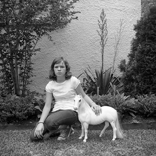Mia with horse (2010)