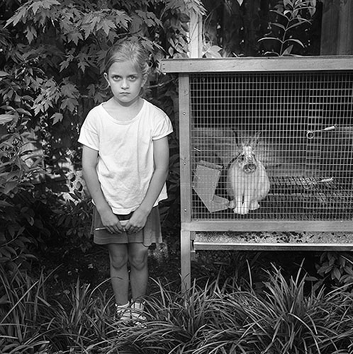 Emma with rabbit (1994)