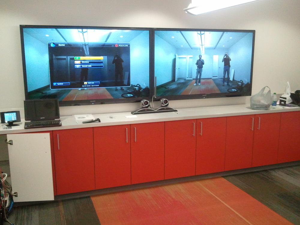 Training Room Polycom Video Confrence