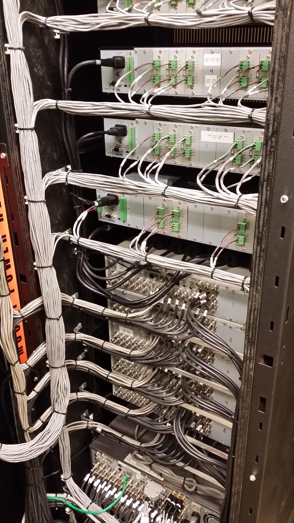 Behind the scenes Audio/video Rack