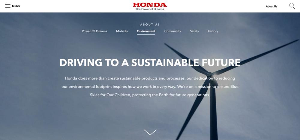 "Honda Environment —  "" Reducing our environmental footprint inspires how we work... """
