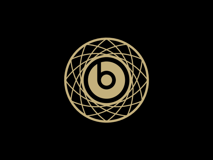 The logo for the weekend, also created in-house at Beats. Do you see the basketball net? (Now you do.)
