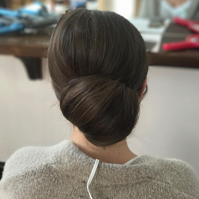 That bun though... bridesmaid hair! #vivalaglamclt #southernwedding #charlotteweddings #charlottehairstylist