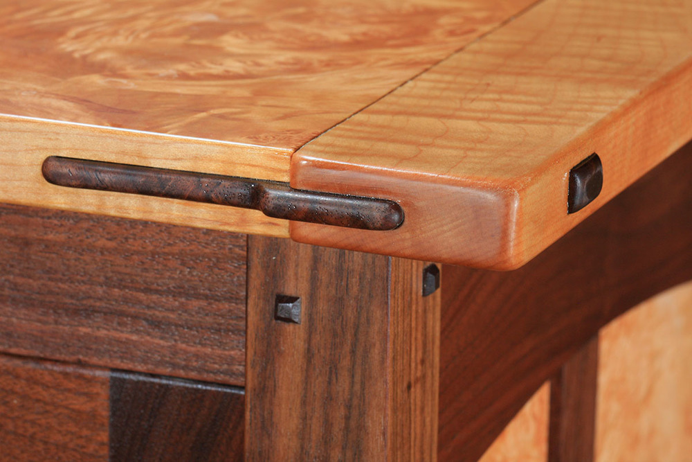Greene & Greene Style Breadboard End Cabinet Top Detail