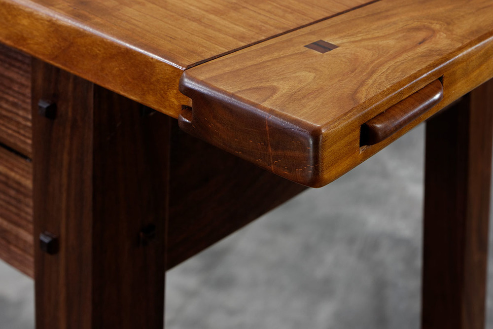 Cherry Amp Walnut Hall Table Lohr Woodworking Studio