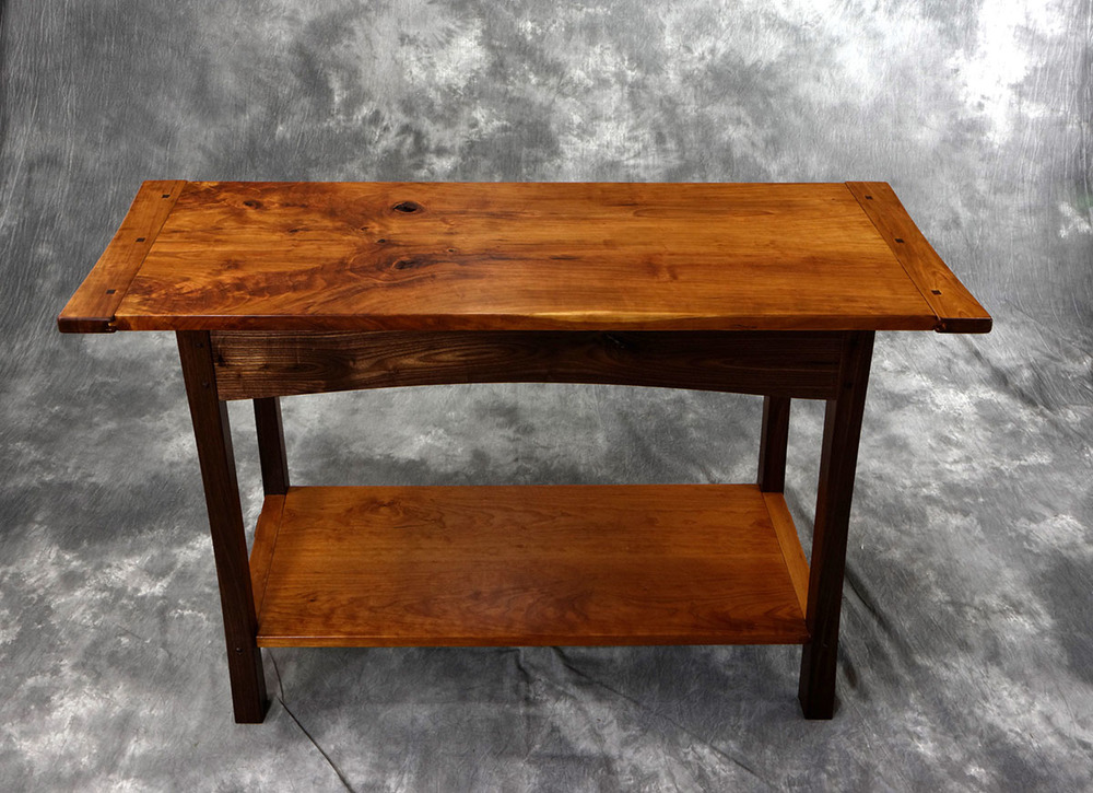 Cherry and Walnut Hall Table