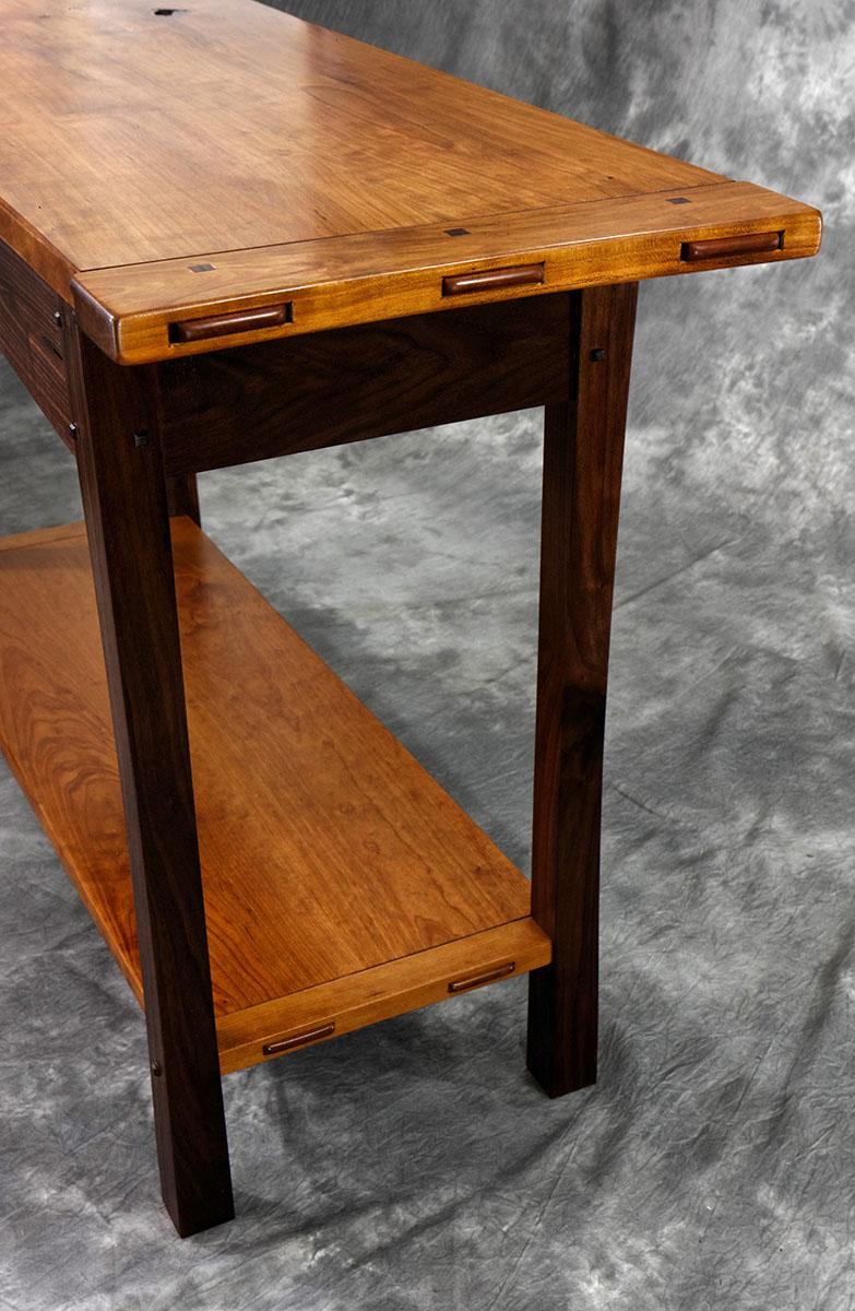 Cherry Amp Walnut Hall Table Lohr Woodworking Studio