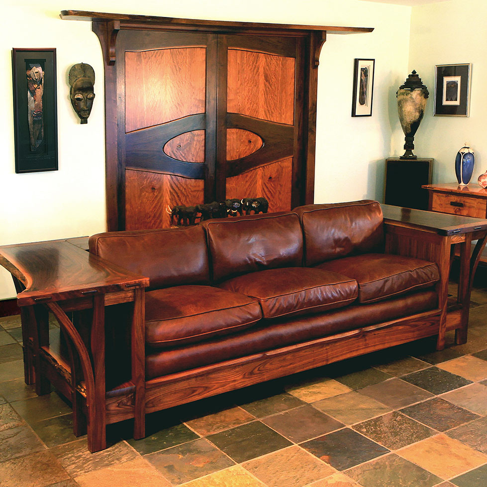 Live Edge Walnut Sofa
