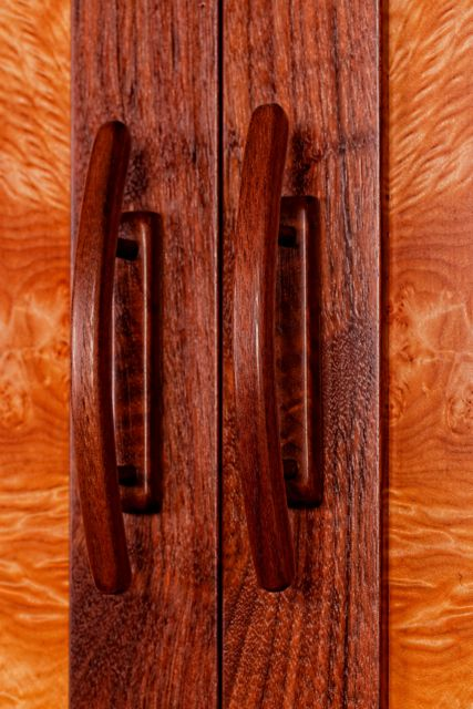 Handmade Walnut Door Pulls