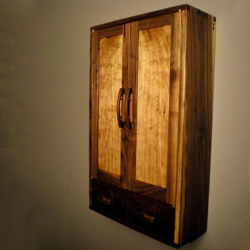 Walnut & Butternut Wall Cabinet