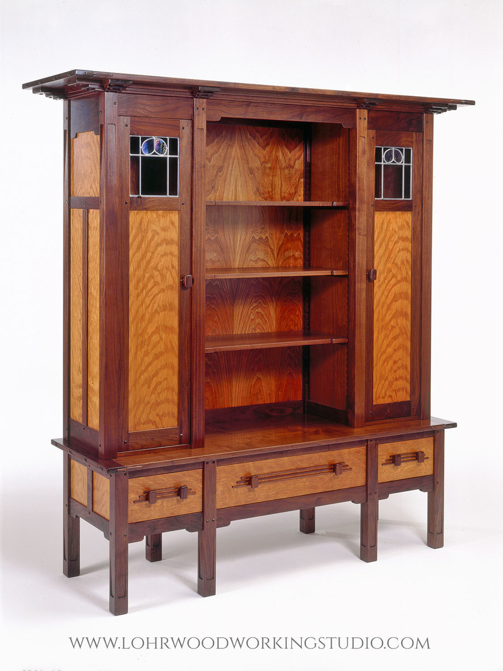 Walnut and Cherry Hutch