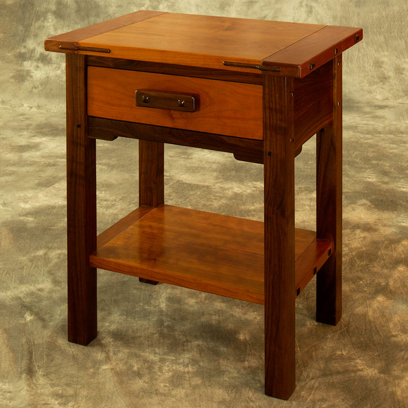 Walnut & Cherry Accessory Table