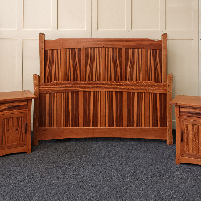 Brown Oak Bed