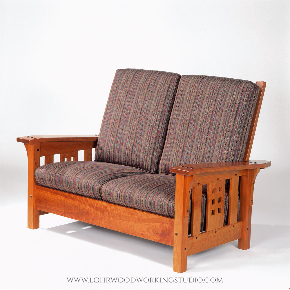 Arts and Crafts Style Morris Loveseat