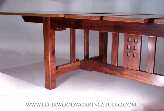 Arts & Crafts Style Cherry Dining Table Base