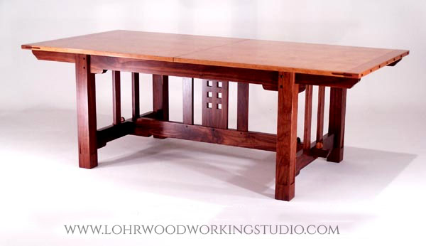 Arts & Crafts Style Cherry Dining Table