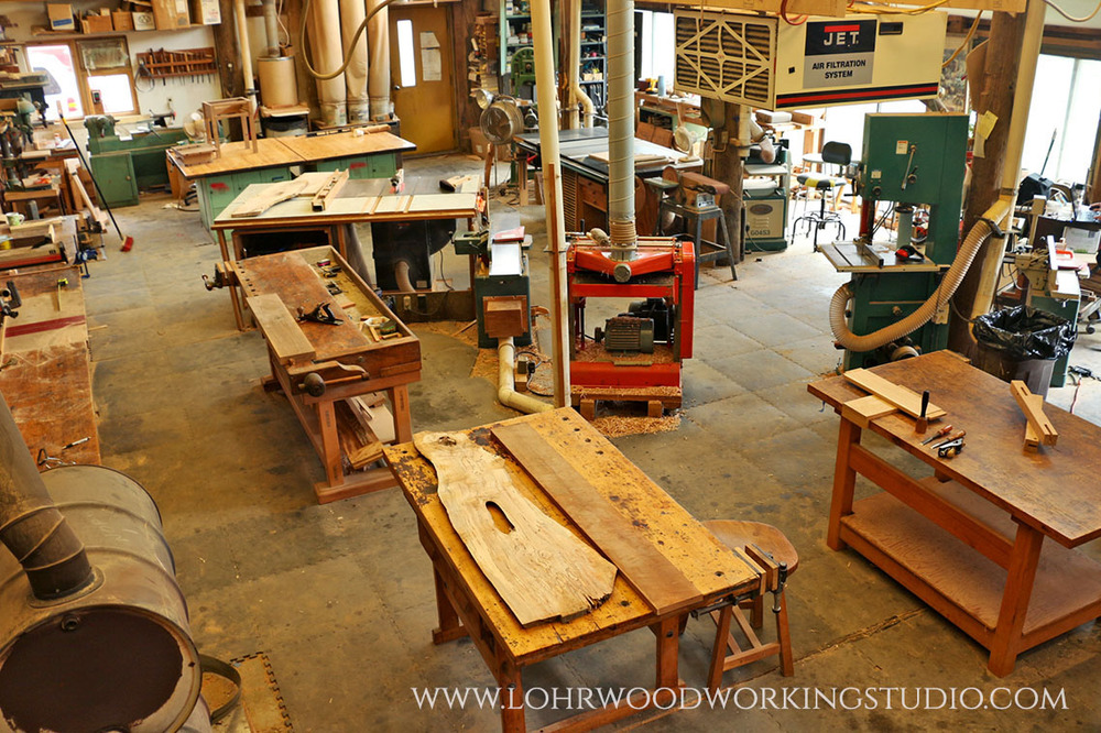 Inside Lohr Woodworking Studio