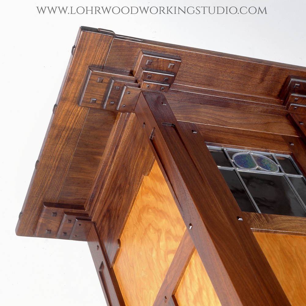 Walnut and Cherry Hutch Detail