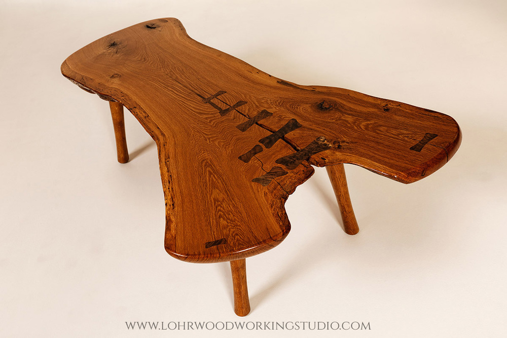 Chestnut Oak Crotch Slab Table