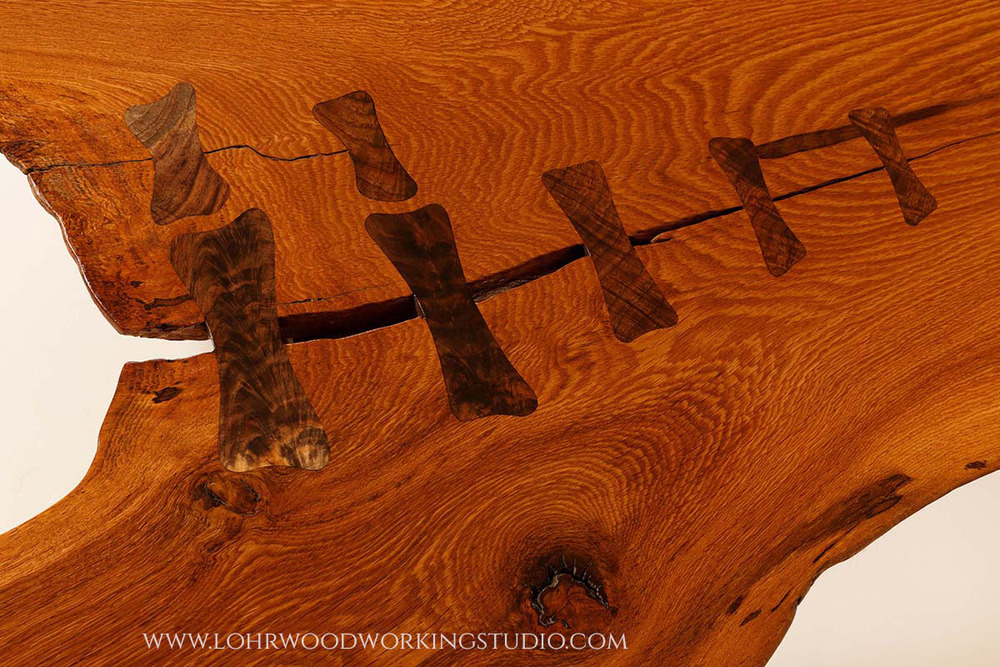 Live Edge Chestnut Oak Table Lohr Woodworking Studio