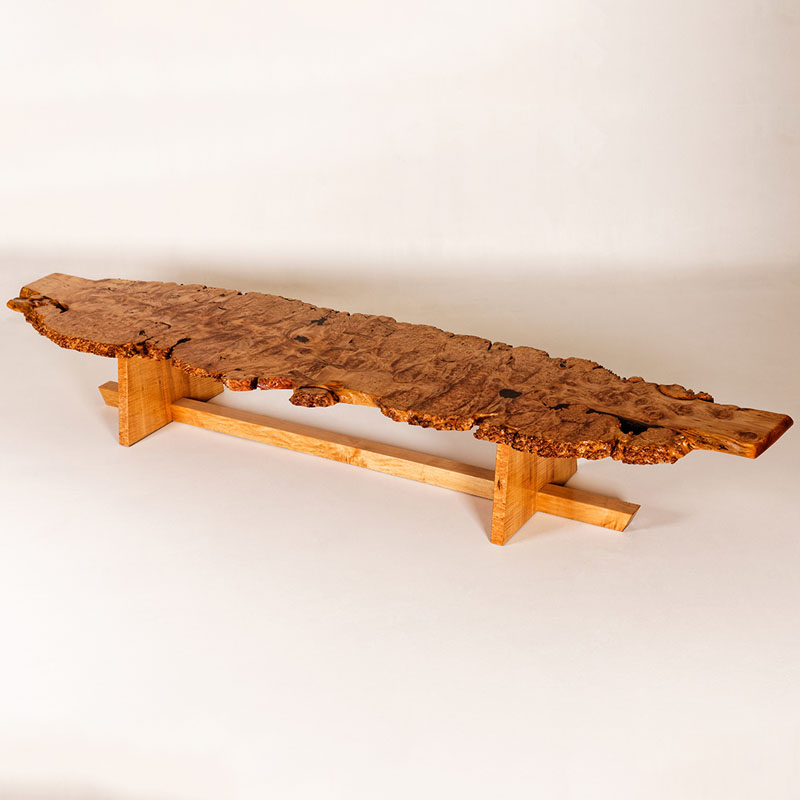 Bigleaf Maple Burl Coffee Table