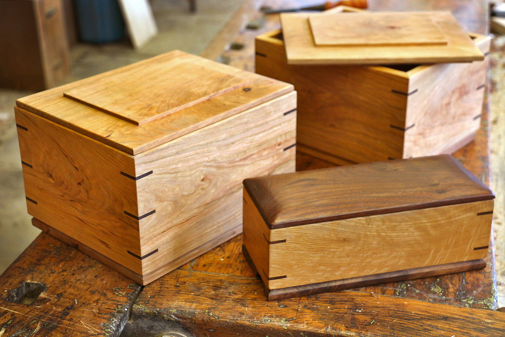Cherry & Walnut Splined Boxes