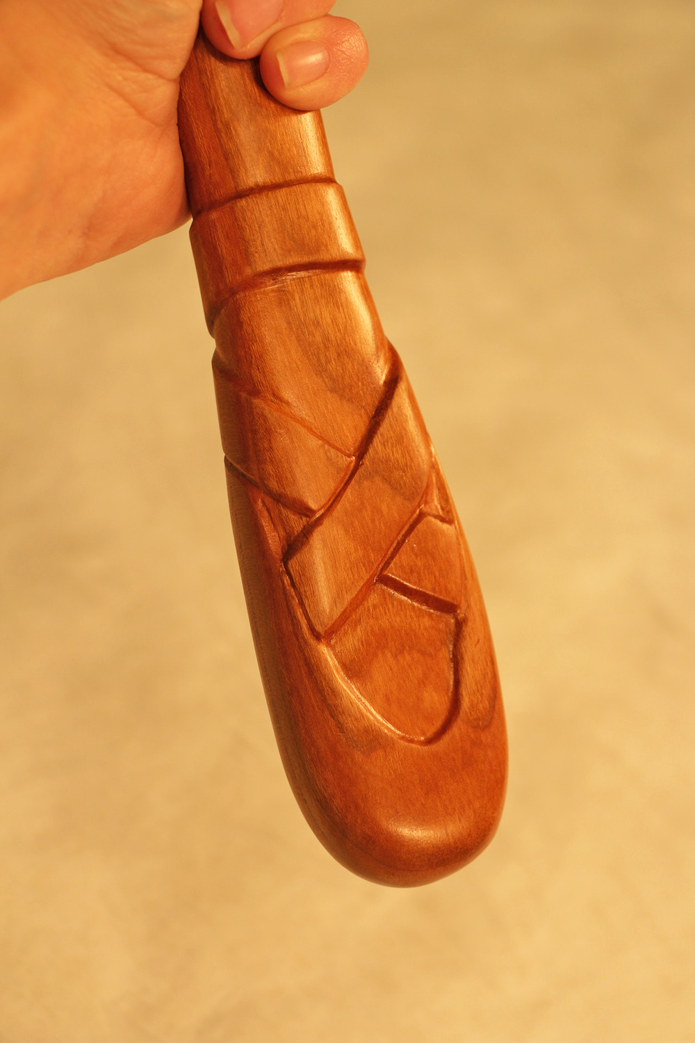 Cherry Carved Mirror Handle.jpg