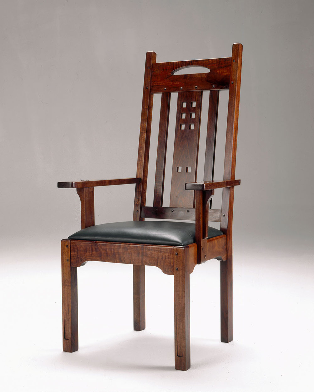 arts and crafts style dining chair with arms