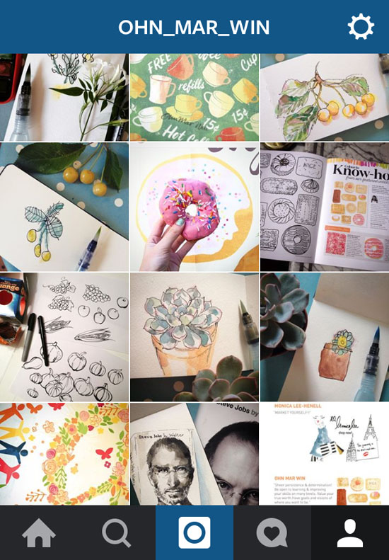 Instagram for illustrators 2