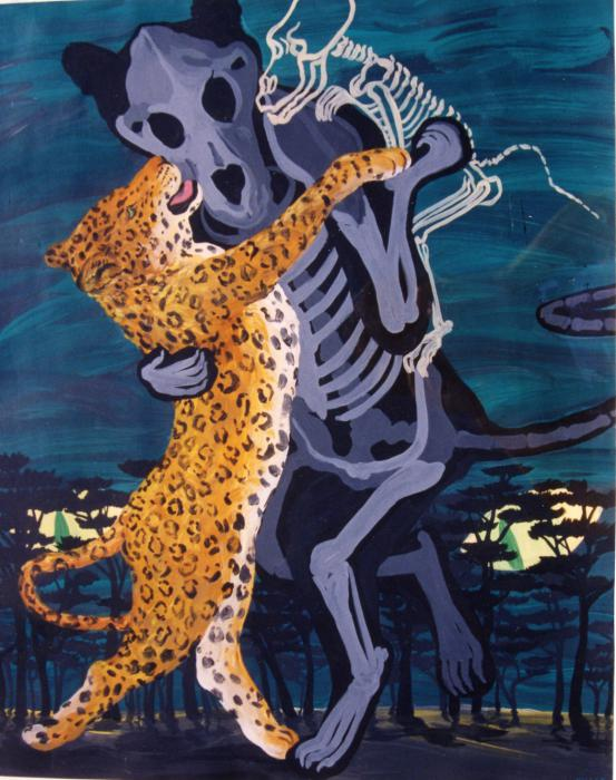 "Painting, ""A Dance With Demons"" by Nancy Miller"