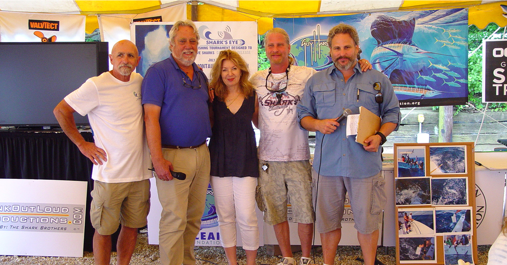 The Shark Brothers, Brooks and Sean Paxton (righ) with tournament founders, L-R: Rav Freidel, Carl Darenberg and April Gornick.
