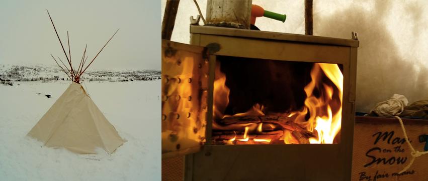 Lavvu and stove