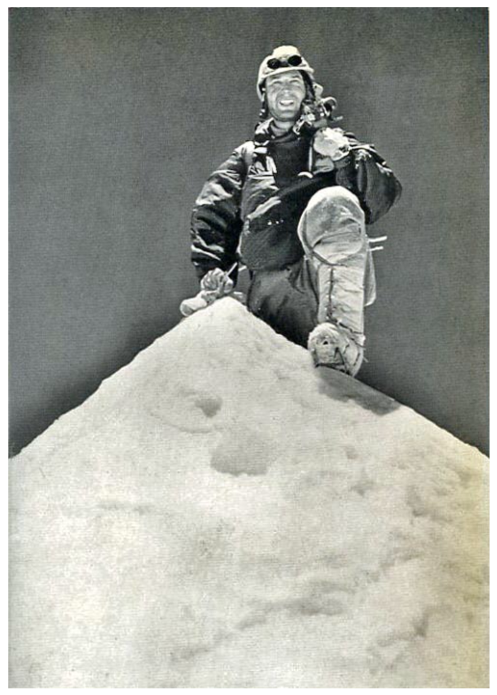 Makalu First Ascent - Expedition leader Jean Couzy on the Makalu summit May 15, 1955 Photographed by Lionel Terray