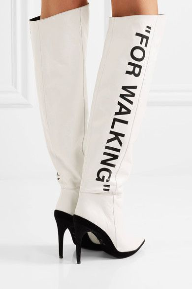 """Context"" is the challenge of the postmodern. Pictured here, ""For Walking"" boots by OffWhite."