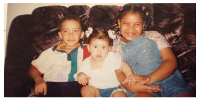 Steven with his sisters as children growing up in NYC.