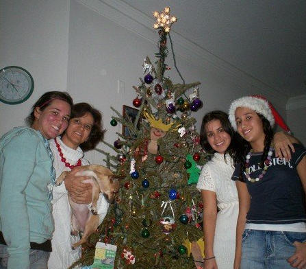 Christmas with the family before Evelyn's mother was deported
