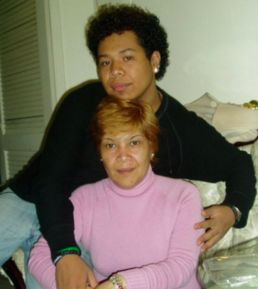 Oscar with his mother over 5 years ago, before she returned to Mexico City - he has not seen his mother or his brother or sister since.