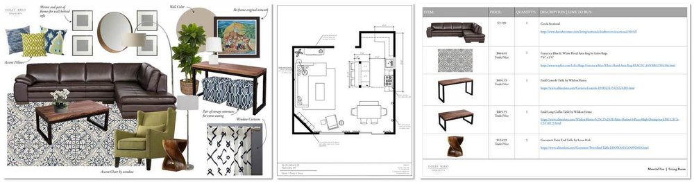 E-Design concept board | Holly Bero Interiors